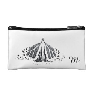 Monarch outline cosmetic bag