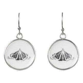 Monarch outline earrings