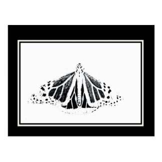 Monarch outline postcard