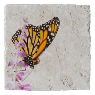 Monarch perched on lavender trivet