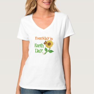 Monarch & Sunflow Everyday is Earth Day! - T-shirt