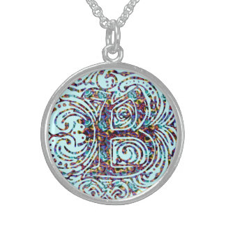 "Monarchia Abstract Color ""B"" Round Necklace"