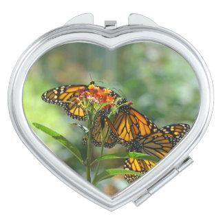 Monarchs Butterflies compact mirror gifts custom