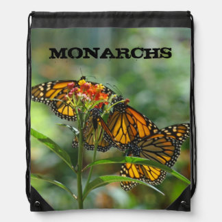 MONARCHS butterflies gifts Drawstring Backpacks