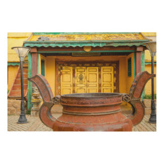 Monastery Building Exterior Wood Wall Decor