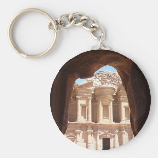 monastery petra ancient basic round button key ring