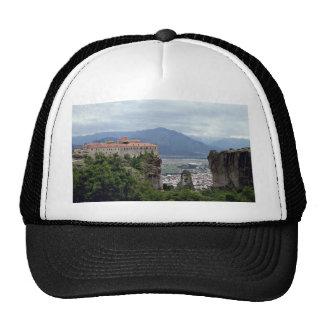Monastery, The Great Meteora, Greece Mesh Hat