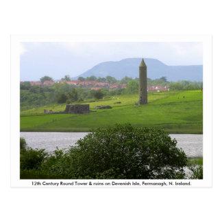 Monastic Tower & Ruins, Devenish Island Postcard
