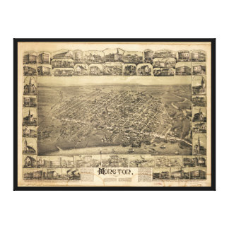 Moncton New Brunswick Canada (1888) Stretched Canvas Print