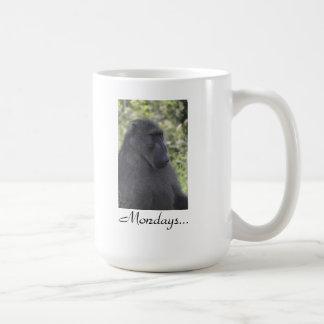Monday and monkeys mugs