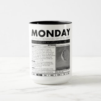 MONDAY AND THE MYTH BEHIND IT:  one of seven cups