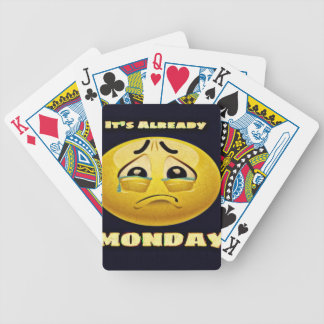 Monday Blues Bicycle Playing Cards