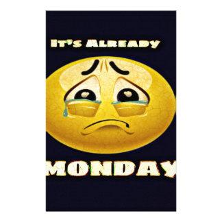 Monday Blues Stationery
