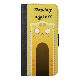 Monday Cat iPhone wallet case