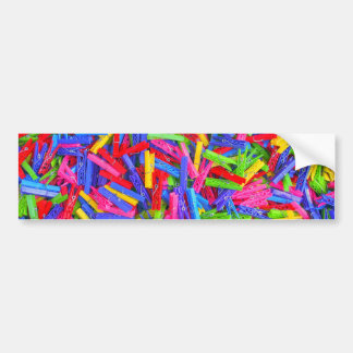 Monday Clothing Pins Multicolor Home Texture Bumper Sticker