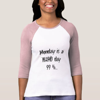 Monday is a hard day T-Shirt