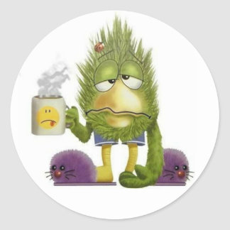 Monday Monster Round Sticker