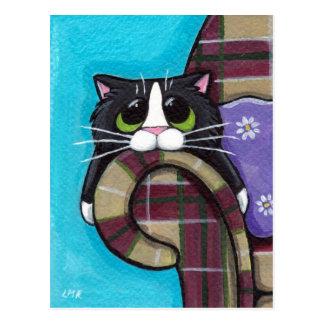 Monday Morning Blues - Cat Postcard