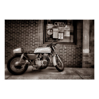 Monday Motorcycle Poster