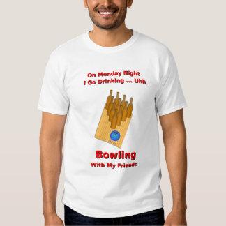 Monday Night Beer Bowler T Shirt