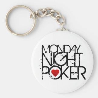 Monday Night Poker Keychain