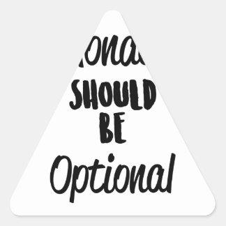 Monday Optional Triangle Sticker