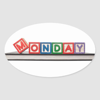 Monday Oval Sticker