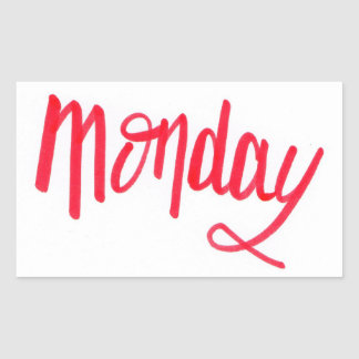 Monday Rectangular Sticker