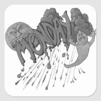 Monday Square Sticker