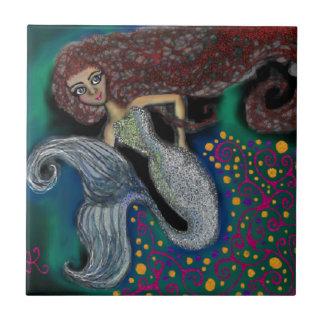 Monday the Mermaid. Ceramic Tile