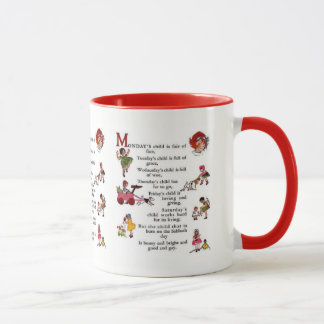 Monday's Child Red Mug