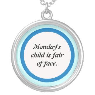 Mondays' child round pendant necklace
