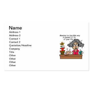 Mondays Humor Pack Of Standard Business Cards