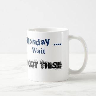 mondays basic white mug