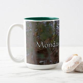 Mondays With Mom Two-Tone Coffee Mug