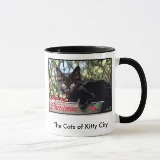 Mondo Longwhiskers Christmas card, The Cats of ... Mug
