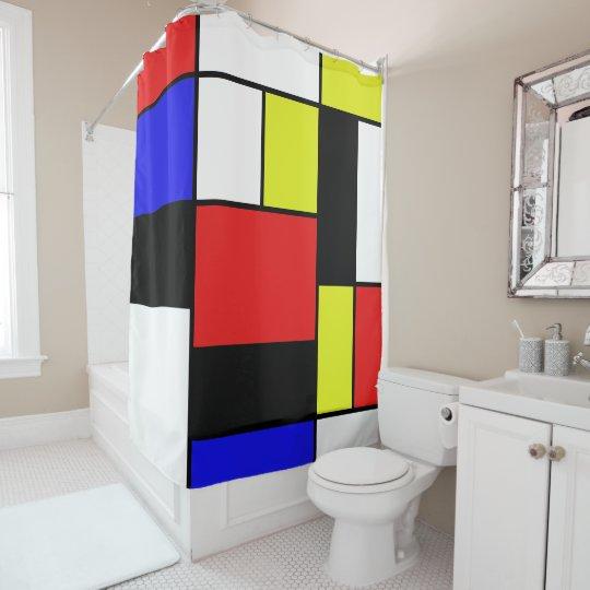 Mondrian #21-1 shower curtain