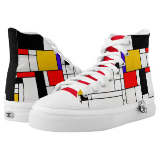 Mondrian Abstract Art Style High Tops