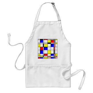 Mondrian art style standard apron