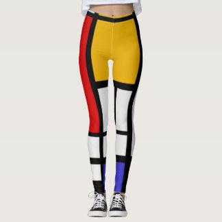 Mondrian Color Block Leggings