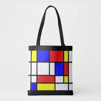 Mondrian - Colors Tote Bag