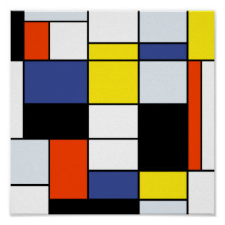 Mondrian - Composition A Extra Large Poster