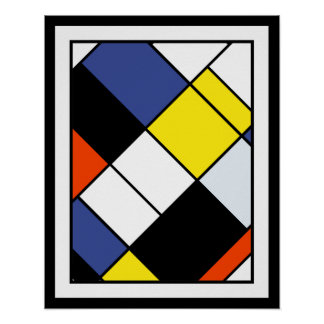 Mondrian - Composition A Large Poster Print