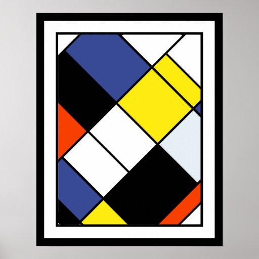Mondrian - Composition A Large Poster Print