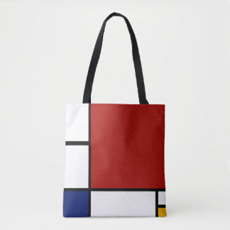 Mondrian Composition II in Red, Blue, and Yellow Tote Bag