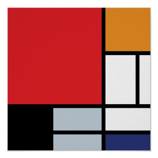 Mondrian - Composition With Large Red Plane Poster