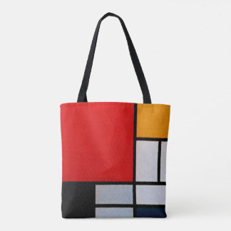 Mondrian - Composition with large red plane Tote Bag
