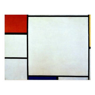 Mondrian -  Composition with Red and Blue Postcard