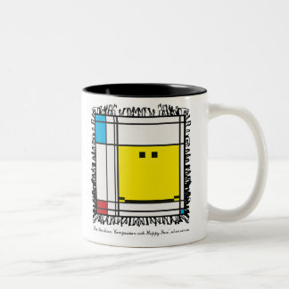 mondrian happy face mug