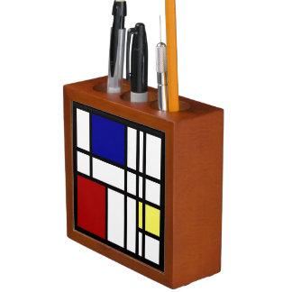 Mondrian Impression Art Desk Organiser